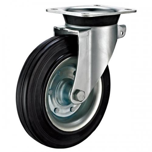 轮子的大小同时也影响工业脚轮定制的转动性